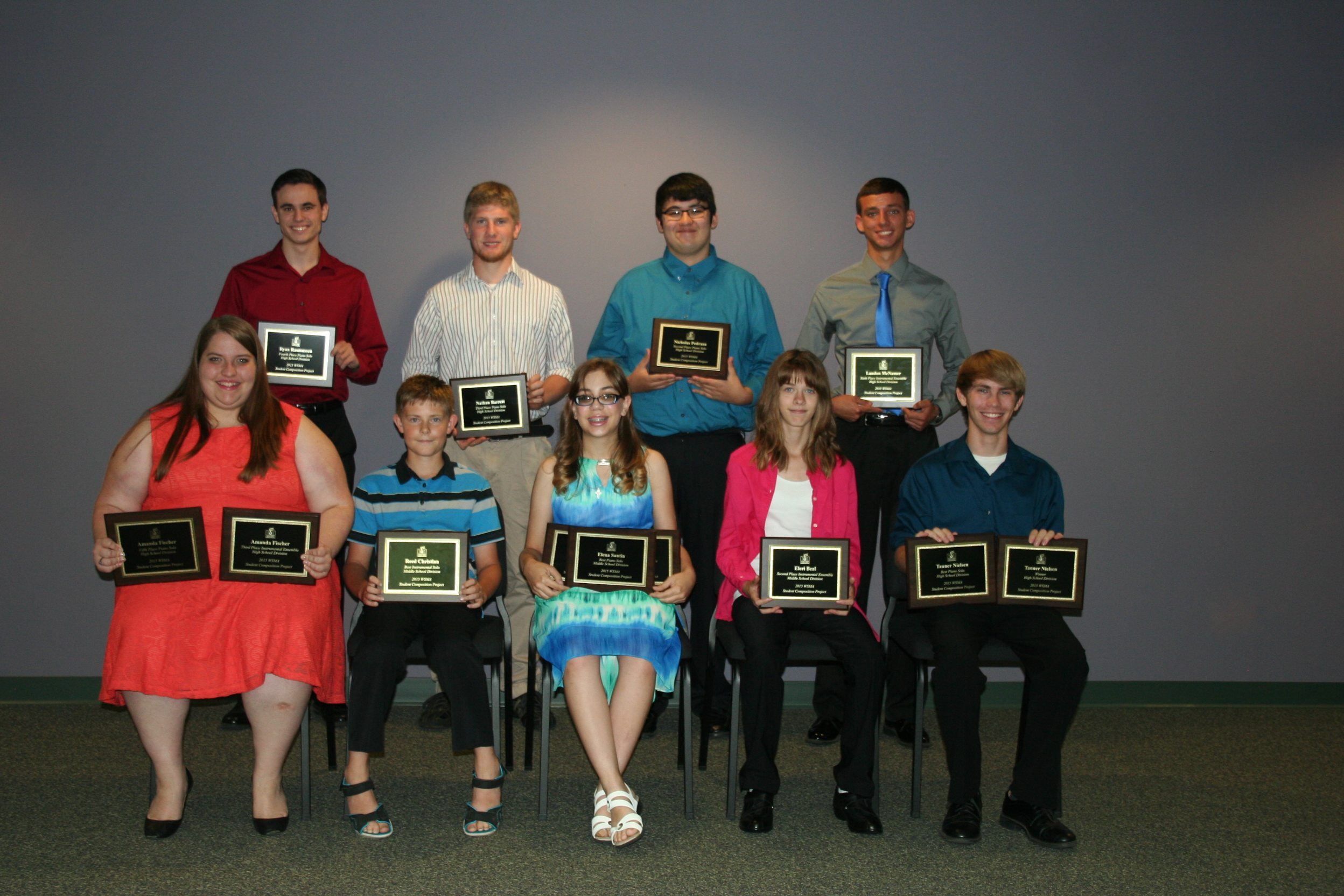 2015 Student Composition Project Award Recipients